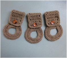 Towel Holders  Crochet Towel Hangers by DebbieCrochets on Etsy