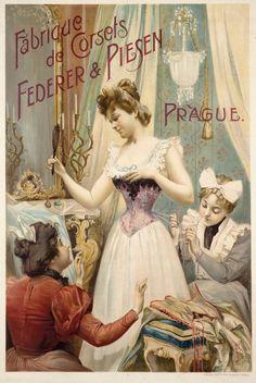 Fabrique de corsets, Feder & Piesen, Prague. 1899