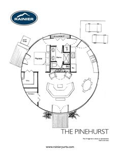 Yurt floor plans A wide variety of floor plans for yurts or