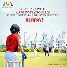 DAY 2- CAPE INVITATIONAL XI So it's action time in Jaipur. After a long flight and may be jet lagged, boys are finding it tough today as they are taking on Jayshree Periwal International School team at their home ground in their first ever Cricket experience on Indian soil. Some nervous supporters and anxious team in hot conditions and Indian pitch, couldn't do much as they batted first to just manage a decent 142/7 in 35 overs. Real test for the bowling unit now..