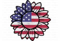 Sunflower Png, Sunflower Images, Stencil Wall Art, Usa Flag, Digital Stamps, Independence Day, Painted Rocks, July Crafts, Patriotic Crafts