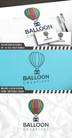 Air Balloon Logo — Photoshop PSD #clouds #social work • Available here → https://graphicriver.net/item/air-balloon-logo/17852718?ref=pxcr
