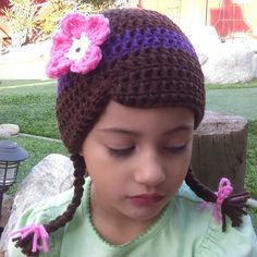 Ideas For Crochet Hat Kids Character Doc Mcstuffins Crochet Kids Hats, Crochet Cap, Crochet For Boys, Crochet Beanie, Crochet Crafts, Crochet Projects, Knitted Hats, Crochet Wigs, Yarn Wig