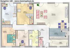 Bungalow kleinere Schlafzimmer und Wohnzimmer, dafür Ankleidezimmer und Speisekammer