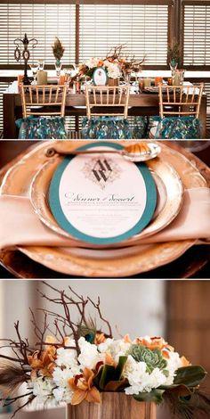 my wedding inspiration - rustic glamour