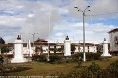 Plazuela de la Independencia recuerda a héroes en Amazonas  En memoria a la victoria obtenida en la batalla de Higos Urcos, donde los patriotas bajo el mando del coronel José Matos, se enfrentaron a los españoles, se levantó la Plazuela de la Independencia, en la ciudad de Chachapoyas, en el departamento de Amazonas.