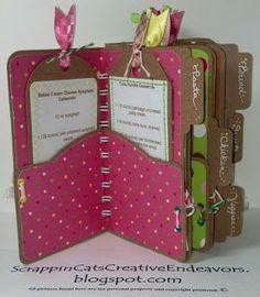 Welcome to Scrappin' Cat's Creative Endeavors: File folder mini cookbook! SO CUTE!