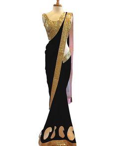 "4,045 Likes, 34 Comments - Zipker (@zipkershopping) on Instagram: "": Hi Zipker presenting  beautiful black plain net saree with blouse. Don't wait just make it own…"""