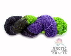 Maleficent hand dyed MCNmerino cashmerenylon by Arctickrafts