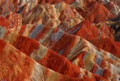 The unique hilly terrain of the Danxia Landform is close to the city of Zhangye, in the north west of China