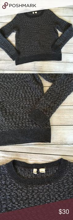 """Anthropologie Moth Gray Sweater By Moth. Warm winter sweater! 57% polyester/38% wool/5% nylon. Long sleeves. 21""""L shoulder to hem. EUC - no signs of wear🚫NO TRADES/NO MODELING🚫 Anthropologie Sweaters Crew & Scoop Necks"""