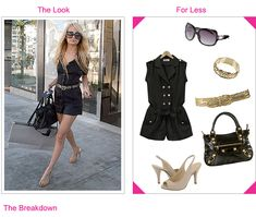 (Celebrity rectangles)arlina  Nicole Richie - Get The Look For Less
