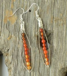 Pea Pod Earrings in Autumn Colors by Hang Ups Jewelry Design