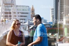 Mixed Race Couple in Sports Clothing in Urban Scene royalty-free stock photo Mixed Race, Scene Photo, My Portfolio, Image Now, Sport Outfits, Royalty Free Stock Photos, Racing, Urban, Lifestyle