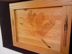 Cranes with cat tails by Rickswoodworks1 on Etsy