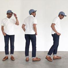 simple outfit #ootd #workwear #streetwear #vintagestyle #vintageworkwear #denimhead #rawdenim #selvedgedenim #ebbetsvintage #muji #studiodartisan #paraboot #parabootmichael #photooftheday