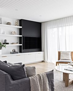 Vaucluse — U-Neek Interior Solutions Living Room Tv, Home And Living, Living Spaces, Tv Wall Ideas Living Room, Decorating Small Spaces, Living Room Inspiration, Cheap Home Decor, Home Remodeling, Living Room Designs