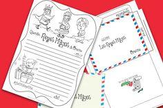 Carta de los Reyes Magos para imprimir y colorear con su sobre para niño y para niña. Imprime aquí tu Carta a los Reyes Magos para colorear para niño Imprime aquí tu carta a los Reyes Magos para colorear para...
