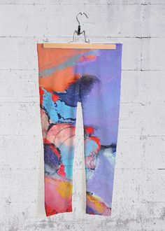 Flowers - Yoga Capri Pants by Johanna Leipold + art for everyday life Vida Design, Tie Dye, Studio, Women, Fashion, Artworks, Moda, Fashion Styles, Studios