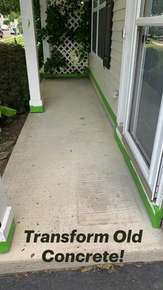 Front Yard Landscaping, Backyard Patio, Diy Landscaping Ideas, Front Yard Patio, Front Yard Decor, Diy Patio, Concrete Patio Designs, Diy Concrete Patio, Concrete Slab