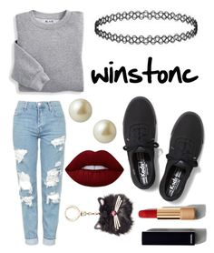"""""""winstonc"""" by ashlynturnup ❤ liked on Polyvore featuring Blair, Topshop, Keds, Carolee, Lime Crime, Chanel and Kate Spade"""