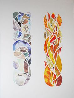 "Inspiration - ""Pillar of Cloud, Pillar of Fire"" - by Isaac Brynjegard-Bialik (paper-cut art based on bible story)"