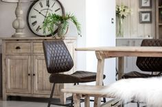 A blend of rustic and industrial makes this range the perfect choice for traditional and modern settings. Entryway Bench, Dining Bench, Dining Room, Kitchen Buffet, Home Comforts, Recycled Wood, Kitchen Storage, Decoration, Rustic
