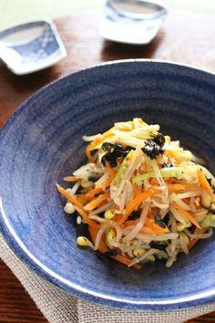 五目・ナムル by かすが  きょうこ / 大豆もやしやえのきだけ、韓国のりなどを組み合わせた食物繊維たっぷりのナムルです(^^♪ / Nadia