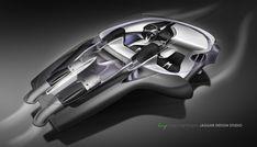 Jaguar C X75 Concept Interior Design Sketch