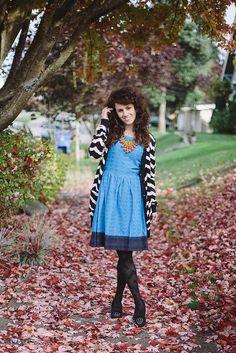 Moonrise dress styled via Delightfully Tacky