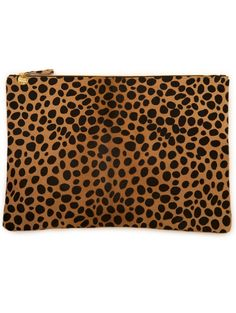 Clare Vivier / Leopard Pony Hair Clutch / Fall 13