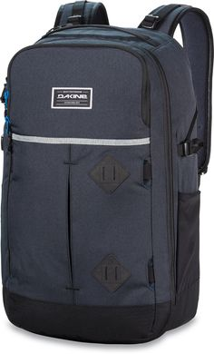 "Dakine Split Adventure Backpack, Tabor, 38 L. Fits most 15"" laptops. Ergonomic foam back panel and shoulder straps with breathable air mesh. Fleece lined padded iPad sleeve. Fleece lined sunglass pocket. Deployable board carry straps."