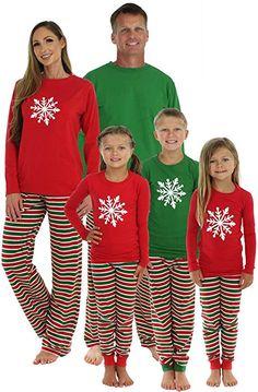 SleepytimePjs Family Matching Sleepwear Knit Striped Pajamas PJ Sets  (STM1-STRIPE-RED- bd002b0e4