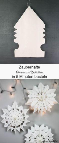 sterne aus butterbrott ten kostenlose anleitung bastelvorlage advent sterne aus papier. Black Bedroom Furniture Sets. Home Design Ideas
