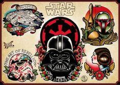 Resultado de imagem para star wars tattoo flash