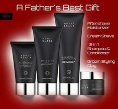 Mens Black groomimg system by Monat, perfect for a fathers day gift! Last chance to order for delivery before fathers day. Natural non toxic anti aging products!