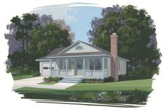 Country Plan: 1,050 Square Feet, 3 Bedrooms, 2 Bathrooms - 036-00007