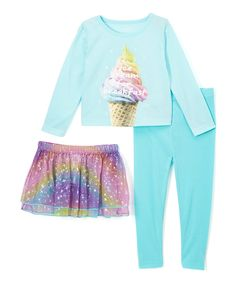 Take a look at this Candlesticks Blue & Purple Ice Cream Pajama Set - Infant, Toddler & Girls today!