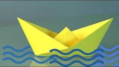 How to Make a Paper Boat, origami, via YouTube.