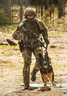 Soldier and his War Dog.