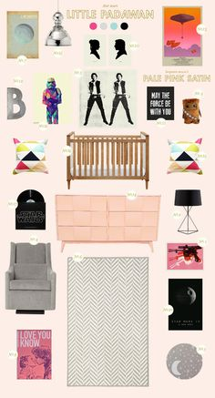 Star Wars Girl Nursery: An out of this world nest featuring our very own Babyletto Skip Crib ♥