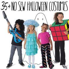 35 no-sew #DIY #Halloween costumes for kids!