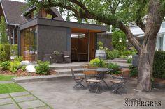 Deck Design, House Design, Outdoor Pavers, Outdoor Living, Outdoor Decor, Go Outside, Terrazzo, Pergola, Home And Garden