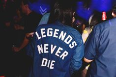 LEGENDS NEVER DIE // denim jacket