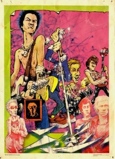 The Sex Pistols by Hunt Emerson