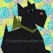 Scottie Paper Pieced Quilt Block  - via @Craftsy