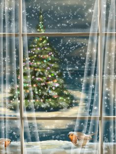 Christmas night Art Print by Veronica Minozzi. All prints are professionally printed, packaged, and shipped within 3 - 4 business days. Choose from multiple sizes and hundreds of frame and mat options. Christmas Night, Christmas Scenes, Christmas Past, Christmas Canvas, Vintage Christmas Images, Retro Christmas, Christmas Pictures, Blue Christmas, Illustration Noel