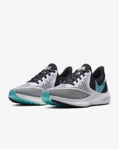 Nike Air Zoom Winflo 6 Women's Running Shoe. Nike.com Crossfit Challenge, Nike Running Shoes Women, Star Shoes, Air Zoom, Pink Shoes, Blue Fashion, Fun Workouts, Snug Fit, Nike Air