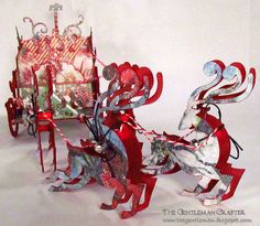 Sizzix Die Cutting Inspiration and Tips: Die Cutting Paper: Filigree Reindeer Sleigh