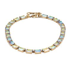 "Hand faceted to catch the light, softly colored stones are a pretty way to add a subtle dose of sparkle to your look. <ul><li>Length: 16"" with a 2 1/4"" extender chain for adjustable length.</li><li>Zinc, glass.</li><li>Light gold plating.</li><li>Import.</li></ul>"